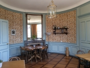 Inside the restaurant of the Champ-Pittet building