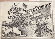 Poster I did for my video La Terre Promise (1982)