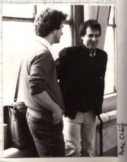 Cherif Defraoui, one of my teachers at Fine Arts School in Geneva (1983)
