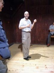 Jacques Siron talking about his film in La Chaux de Fonds