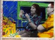 The Dutch filmmaker Johann van der Keuken and Thierry Noël editing a video in Annecy (1982)