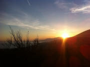 Sunset: as seen from the top of high overhang in the hills above where I live.
