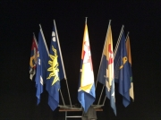 Flags of communes about to merge