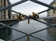 Geneva: Bridge over the Rhone - padlocked