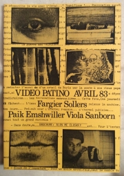 Programme for video at La Salle Patino,  April 1983