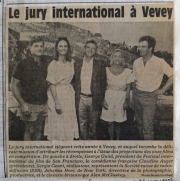 The jury of the international comedy film festival of Vevey, 1985