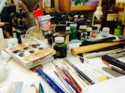 Tools in a workshop for restoring art works (1)