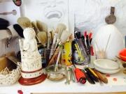 Tools in a workshop for restoring art works (3)