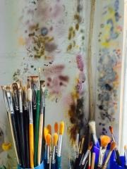 Tools in a workshop for restoring art works (4)