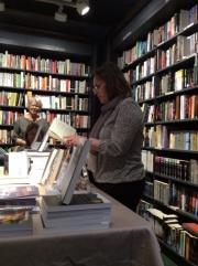 Carmen Bugan reading a poem