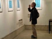 Guy Milliard at my photo exhibition at the CAC in Geneva.