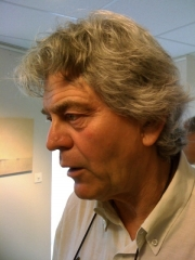 Daniel Aeberli at one of his exhibitions