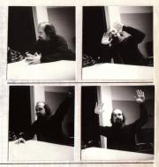Bill Viola giving a seminar at the 1st International Video Week at St-Gervais Geneva (1985)