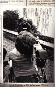Filming with Manuel De Oliveira by the Lake in Montreux for a TV documentary (1983)