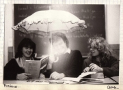 Working with my English students preparing the filming of my video, Game. (1986)