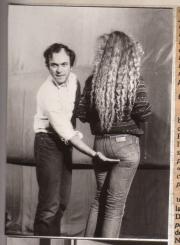 Jean-Christophe Bouvet at work during the Montebliard Video Festival (1982)