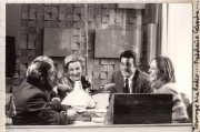 Madeleine Caboche:  filming of material for La Jonction at the Swiss Radio Station. (1984)