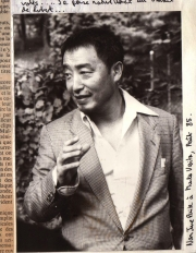 Nam June Paik at Monte Verita, Locarno during the Locarno Video Festival (1984)