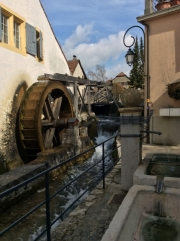 The waterwheel in Saint-Blaise