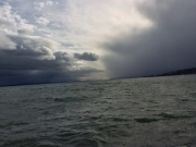 Rough weather in the direction of Yverdon at the far end of the lake.