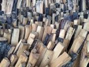 Tumbled wood pile