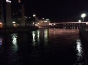 The Rhone at night, Geneva