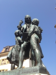 Pestalozzi's statue in Yverdon.