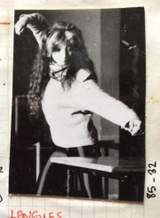 Fabienne Abramovich demonstrating a movement to the cast